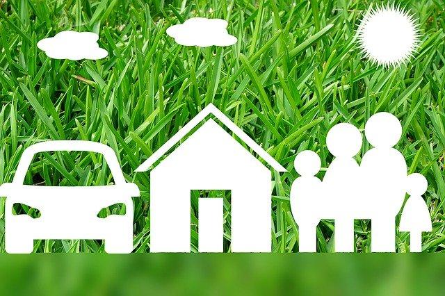 dům a auto rodiny