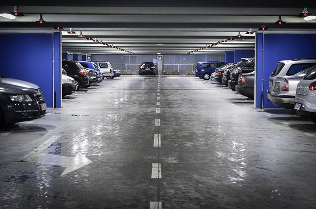 podzemní parkoviště